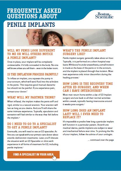 Frequently Asked Questions about Penile Implants
